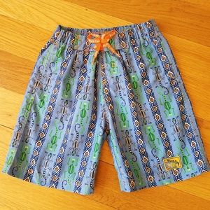 Plaid Fish Boys Size 4T Swim Trunks